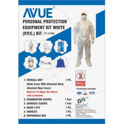 Covid Protective White PPE Kit - 75 GSM